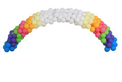 Festive balloon arc. Festive colorful arc made of multicolor balloons Royalty Free Stock Image