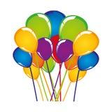 Festive balloon icon image Royalty Free Stock Photography