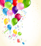 Festive balloons background Stock Photo