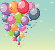 Festive balloons background. Illustration of Festive balloons background with big space for your advertising Stock Image