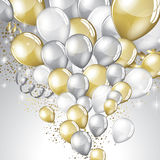 Festive Balloons background Royalty Free Stock Photo