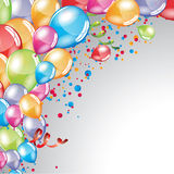 Festive Balloons background. Vector festive Balloons background and colorful confetti Stock Photo