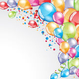 Festive Balloons background. Vector festive Balloons background and colorful confetti Stock Image
