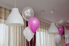 Festive balloons Stock Photos