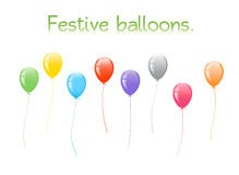 Festive balloons. Illustration of colorful festive balloons Royalty Free Stock Images
