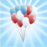 Festive Balloons real transparency. Presidents day Royalty Free Stock Image