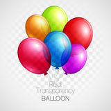 Festive Balloons real transparency. Vector Royalty Free Stock Photo
