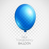 Festive Balloons real transparency. Vector Royalty Free Stock Image