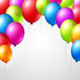 Festive Balloons real transparency. Vector Royalty Free Stock Photography
