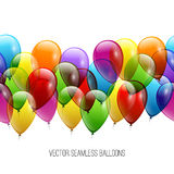 Festive Balloons real transparency. Vector illustration EPS 10 Stock Image