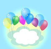 Festive balloons . Space for text. Festive balloons   background Stock Photography