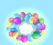 Festive balloons . Space for text. Festive balloons   background Royalty Free Stock Image