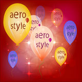 Festive Balloons . Vector illustration EPS 10 . aero style . Royalty Free Stock Image