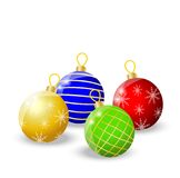 Festive balls on a white background. Vector  illustration Royalty Free Stock Photos