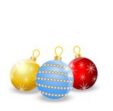 Festive balls on a white background Stock Images