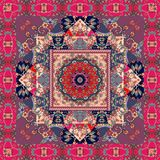Festive bandana print, blanket, pillowcase, rug. Beautiful patchwork. Pattern Stock Photo