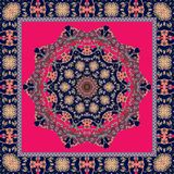 Festive bandana print. Carpet.  Ethnic pattern. Lovely tablecloth Royalty Free Stock Photography