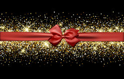 Festive banner with bow. Stock Photography