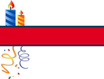 Festive banner. With candles and confetti. EPS 10 Stock Photo