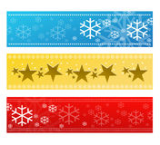 Festive banner set. A variety of festive banners with winter/ christmas design Stock Image