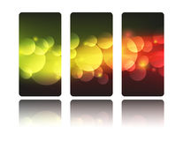 Festive banners. Set of abstract vertical banners Stock Photography