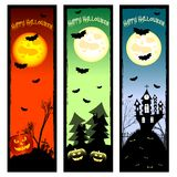Festive banners on theme Halloween with field for text Stock Image