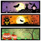 Festive banners on theme Halloween with field for text Royalty Free Stock Photography