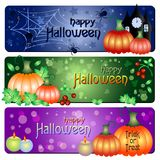 Festive banners on theme Halloween with field for text Royalty Free Stock Photo