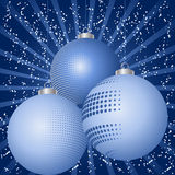 Festive bauble background  Royalty Free Stock Image