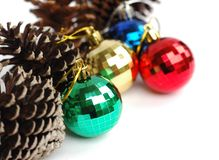 Festive baubles Stock Photos