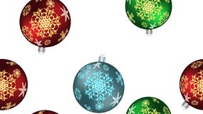 Christmas winter texture a seamless pattern for the New Year from multicolored round balls, Christmas tree. Vector background. Festive beautiful Christmas winter stock illustration