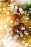 Festive beautiful multi color bokeh light, defocused blur background. Stock Images