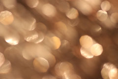 Festive beige background with bokeh effect Stock Photo