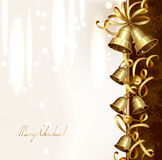 Festive bells. On the Christmas background Stock Images