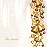 Festive bells. With small balls on the Christmas background Royalty Free Stock Photo
