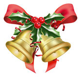 Festive bells and bows Royalty Free Stock Photo