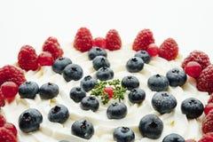 Festive berries cake part, closeup view Stock Photography