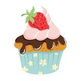 Festive birthday cake. Flat style Stock Image