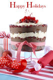Festive Black Forest Trifle Dessert Royalty Free Stock Photography