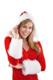 Festive blonde smiling at camera Royalty Free Stock Image