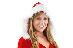 Festive blonde smiling at camera Stock Photography