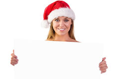 Festive blonde smiling at camera Stock Images