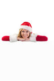 Festive blonde smiling at camera Royalty Free Stock Photography
