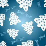 Festive blue background. With fir tree and snowflake Stock Image