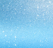 Festive blue background with shiny lights Stock Photo