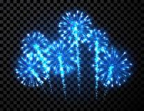 Festive blue firework background Stock Image
