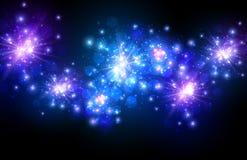 Festive blue firework background Royalty Free Stock Image