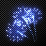 Festive blue firework background. Vector illustration Royalty Free Stock Photography