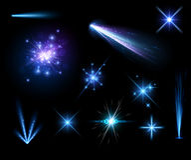 Festive blue firework set Royalty Free Stock Photography