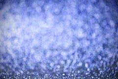 Festive blue lights background stock photos